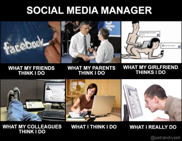 Social media job description meme social media Pinterest Meme - social media manager job description