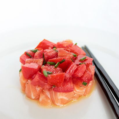 Salmon and Tomatoes Tartare