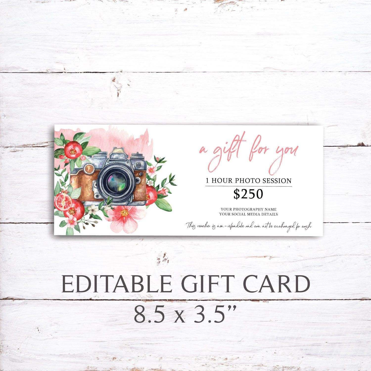 Printable Gift Certificate Gift Certificate Template Watercolor In 2021 Photography Gift Certificate Template Photography Gift Certificate Printable Gift Certificate Printable photography gift certificate template
