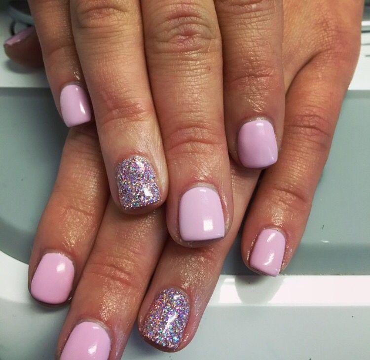 Light pink | Long acrylic nails, Dipped nails, Cnd shellac ...