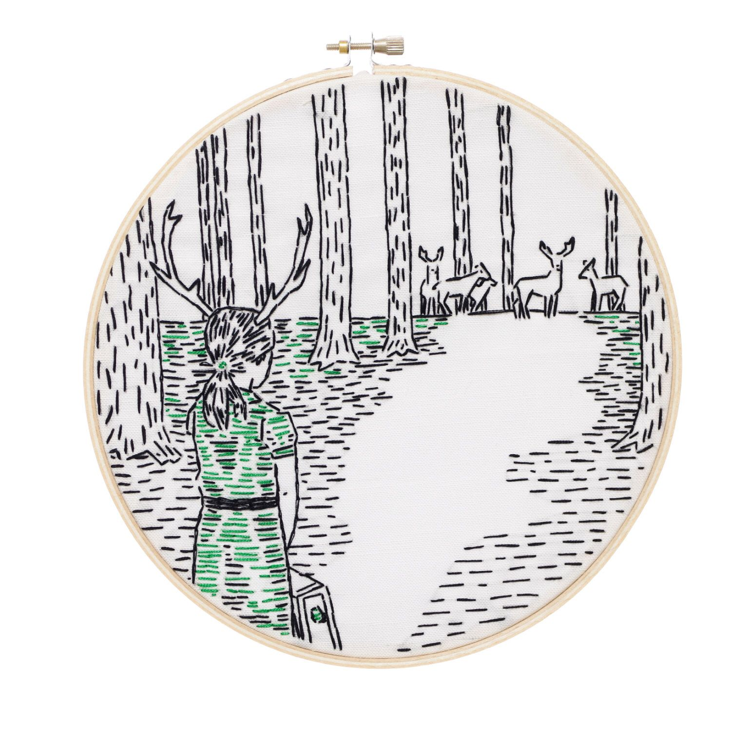 Coming Home Embroidery Kit by studiomme on Etsy https://www.etsy.com/listing/181035500/coming-home-embroidery-kit