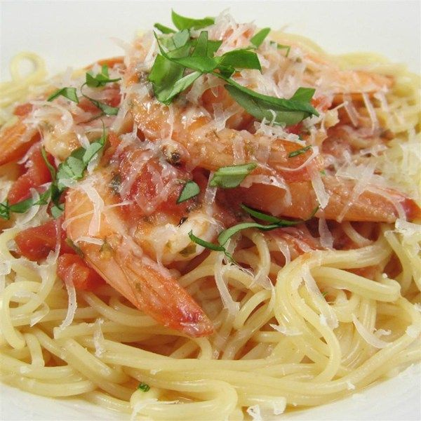 Angel Hair Pasta With Shrimp And Basil I What A Great Way To Enjoy