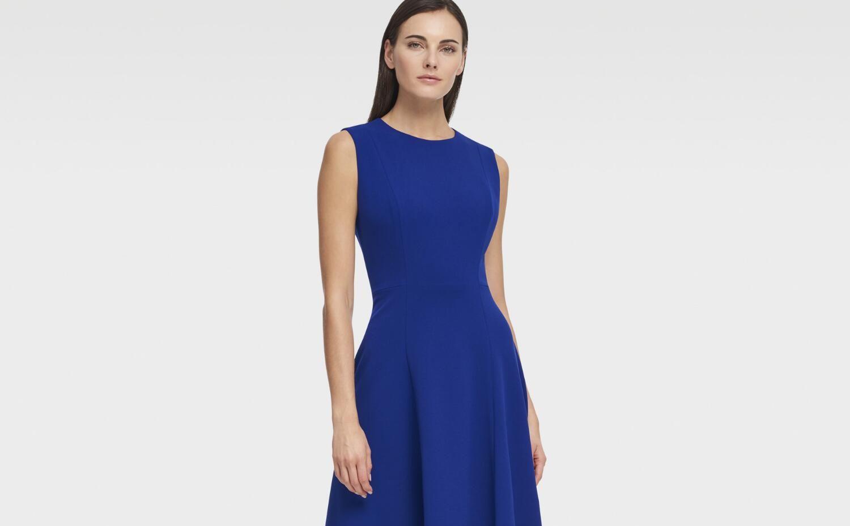 e222026d48 SLEEVELESS DRESS WITH HANDKERCHIEF HEM - Dresses - Women - DKNY - Donna  Karan