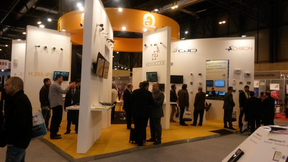 Exhibition Stand In Spanish : Nice booths constructed by dosen exhibition as laser world of