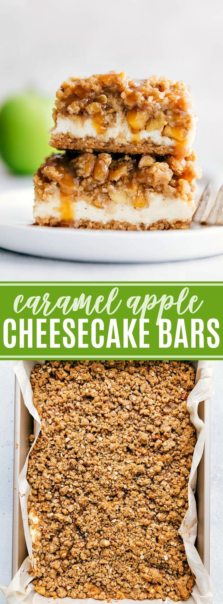 Caramel Apple Cheesecake | Chelsea's Messy Apron