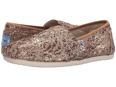 774b2d14b01 TOMS Lace Classics Rose Gold Lace Glitz - Zappos.com Free Shipping BOTH Ways