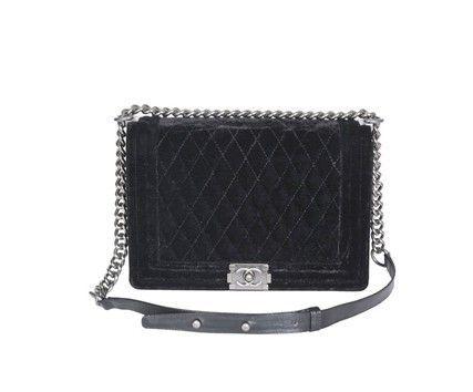 51d597df8aad Le Boy Chanel Black Velvet Large Flap Hangbag 30171  http://www.authorizediscountshop