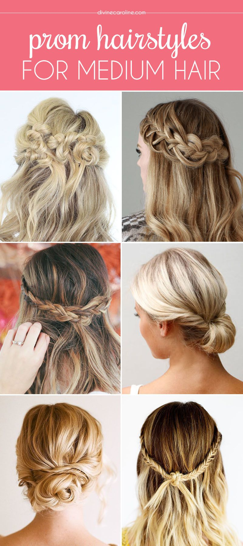 French Hairstyles Our Favorite Prom Hairstyles For Mediumlength Hair  French Braid