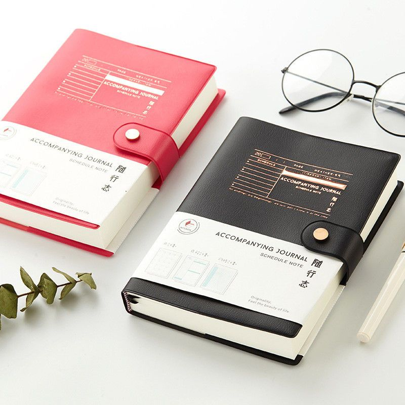 """""""Good Job"""" 1pc Faux Leather Business Notebook Monthly"""