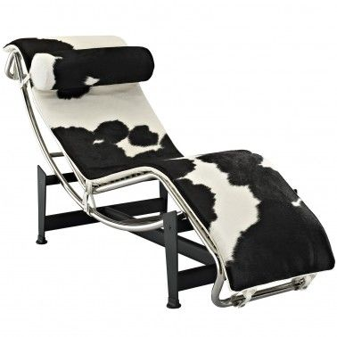 Cow Hide Chaise Lounge