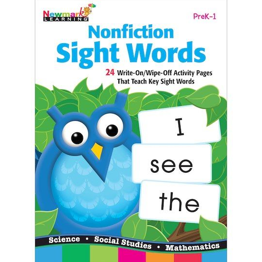 Nonfiction Sight Words Learning Flip Chart By Newmark