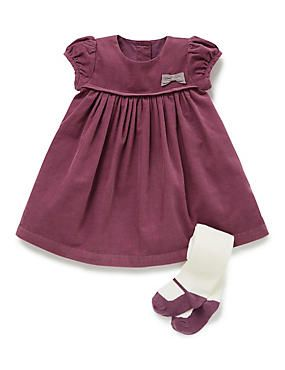 Have a special occasion to go to  Dress your baby girl in this adorable  purple 2 piece cotton rich dress   tights outfit. e9a400f0720a