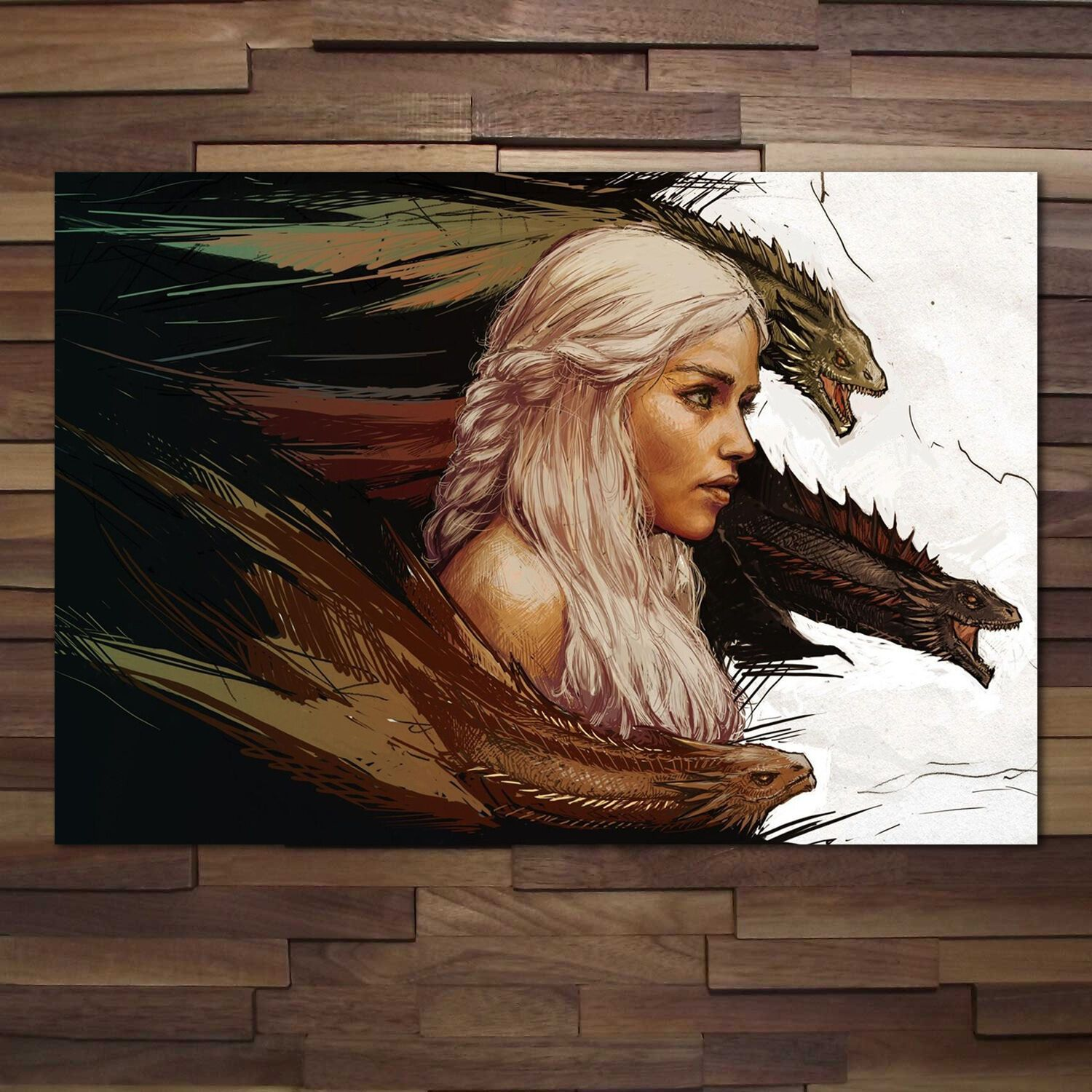 GAME OF THRONES POSTER Daenarys Mother of Dragons Wall Art Photo Pic Print A3 A4