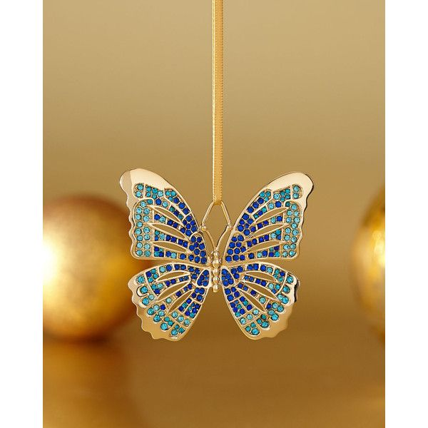 Butterfly Home Decor Accessories 29 Lu0027Objet Blue Butterfly Ornament 100 BRL  ❤ Liked On