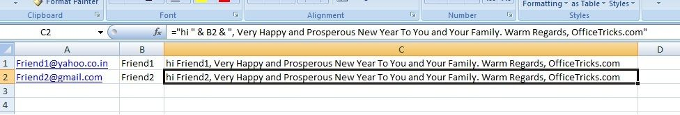 Create a Outlook Email from Excel Follow example explains about