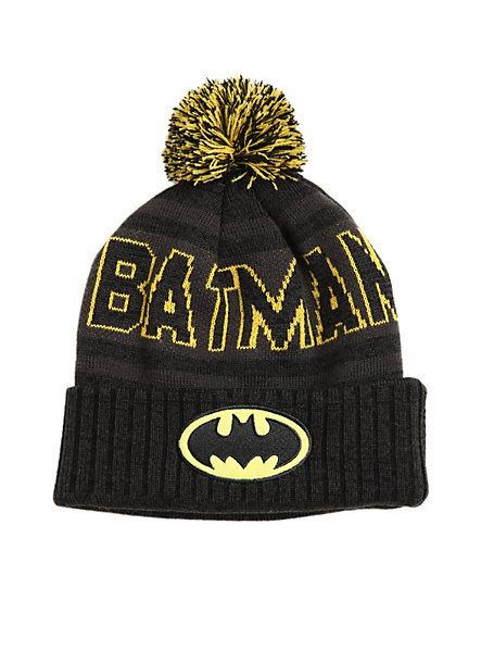 e24463de207 DC Comics Batman Fold-Over Pom Beanie