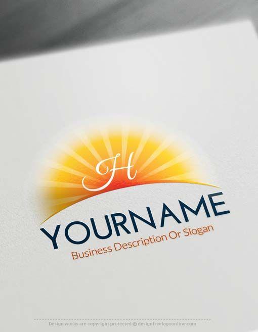 Free Logo Creator Online Sun Logo Design In 2018 Design Free