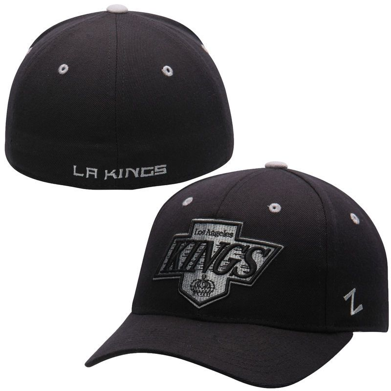 Los Angeles Kings Zephyr Crosscheck Fitted Hat – Black