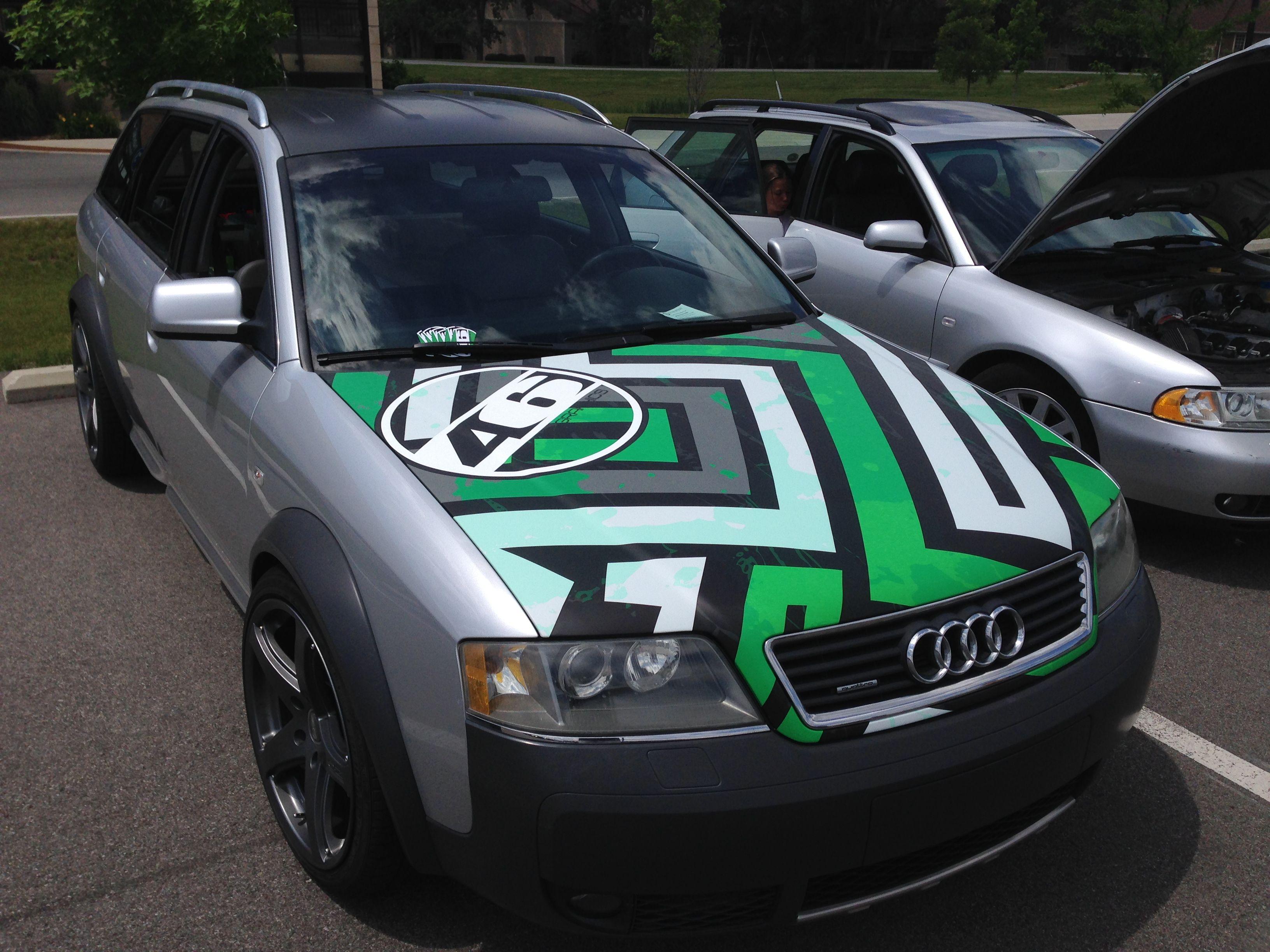 Custom Hood Wrap Really Changed The Look Of This Audi Allroad - Custom vinyl car hood decalscustom vinyl car graphics installation chicago il