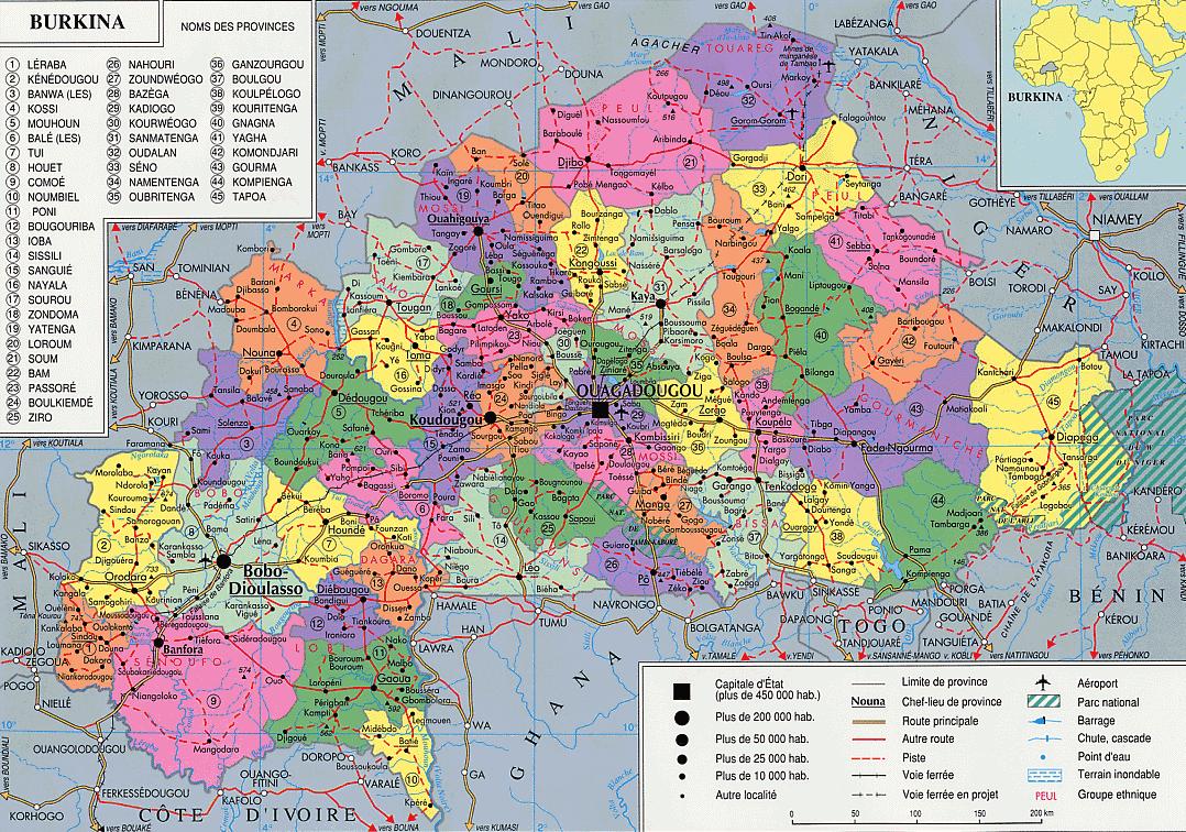 Assez Carte burkina, carte ouagadougou, découvrir le burkina faso : IZF  IH15