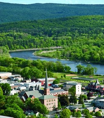 Port Jervis, N.Y.: This canal hub on the Delaware River is the perfect New York oasis, full of high-art galleries and low-cost real estate. Population: 9,161.  (Michael Mohr) From: Coolest Small Towns in America. Click on the photo to nominate your favorite small town for 2014's contest!