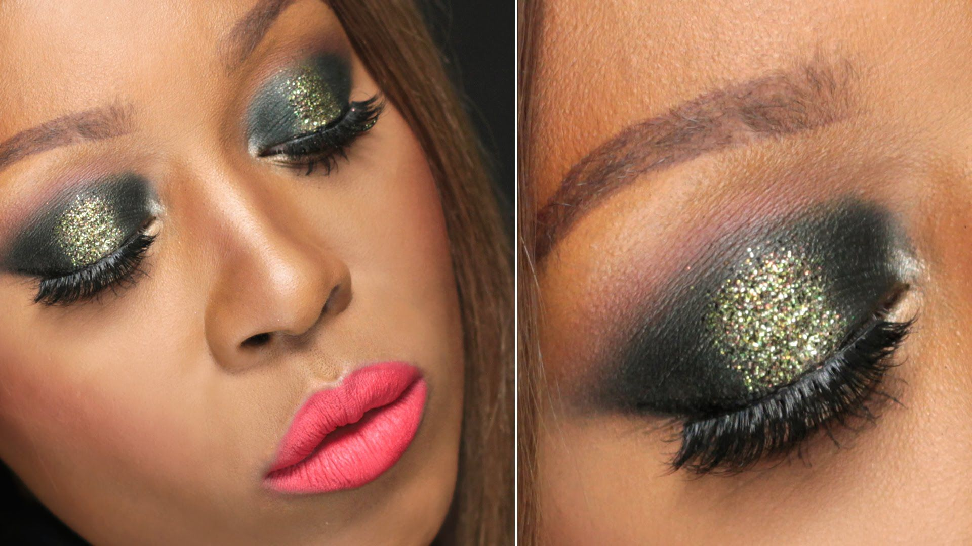 New years eve party makeup tutorial 2014 nye gold glitter smokey new years eve party makeup tutorial 2014 nye gold glitter smokey eye baditri Images