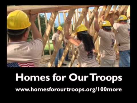 Help Homes for Our Troops build 100 more specially adapted homes for our severely injured veterans
