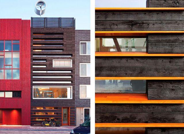 fachada madera carbonizada Architecture Pinterest Showroom and - fachada madera