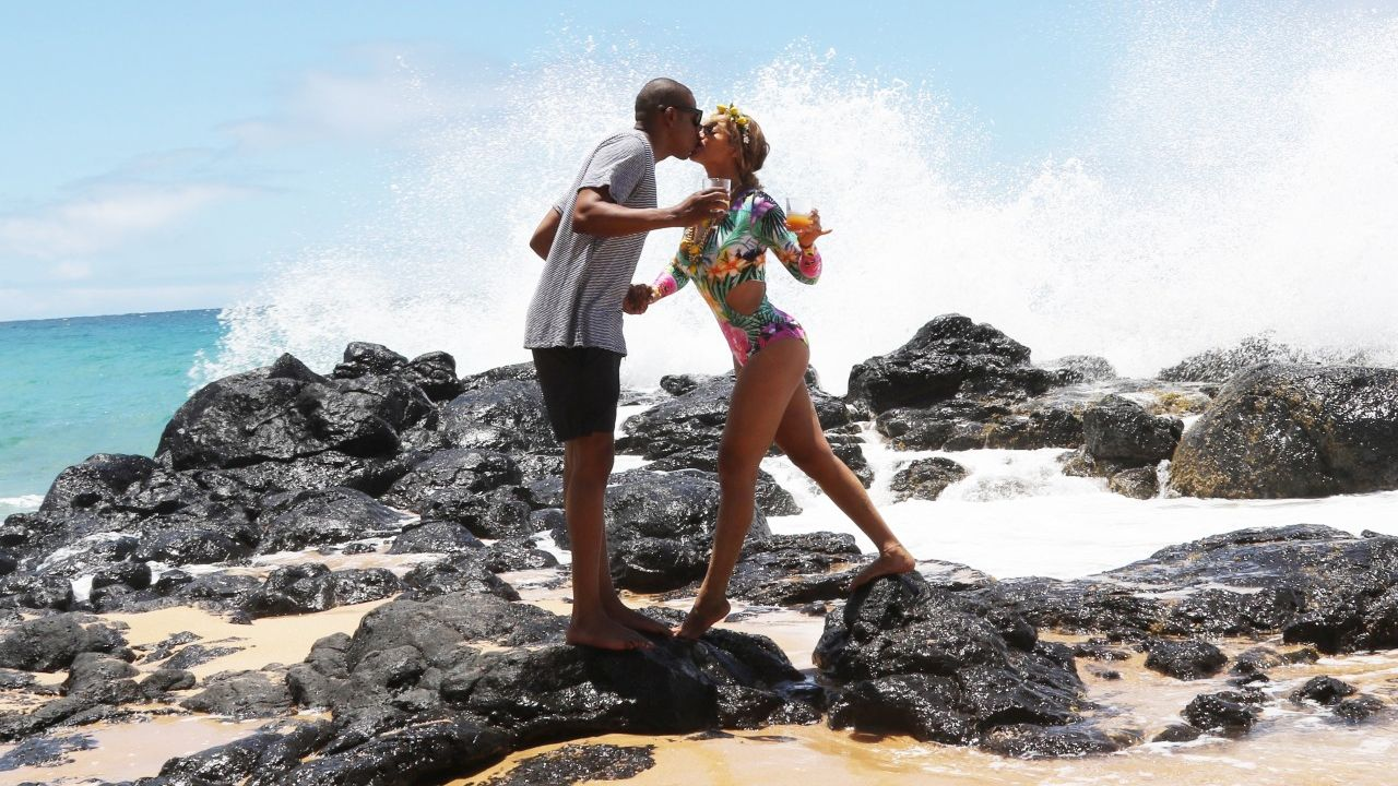 Beyoncé Packs on PDA With Jay Z, Slays in a One-Piece on