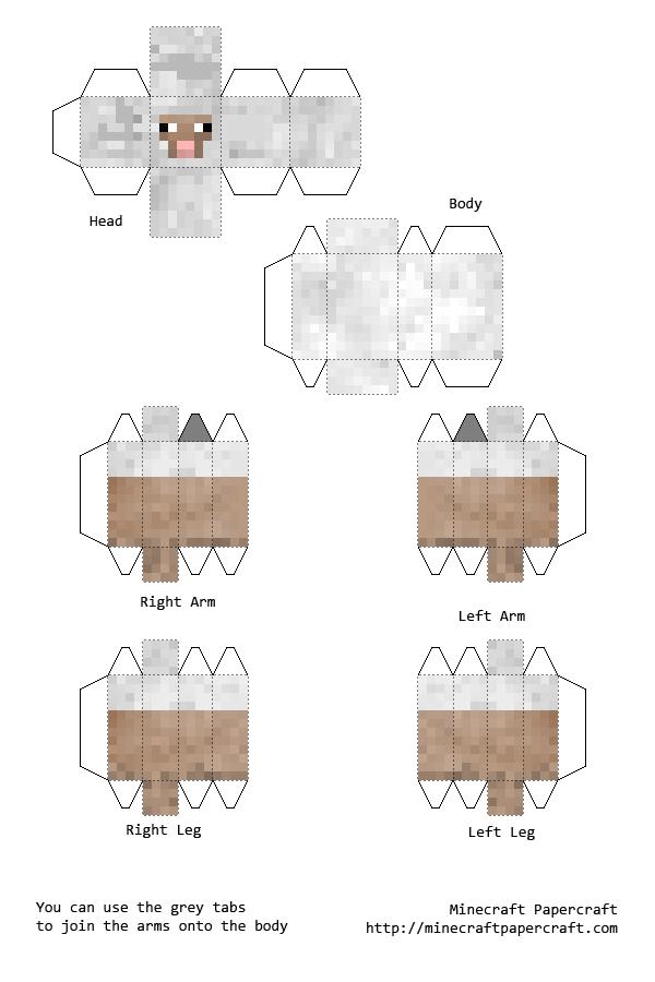 Mindcraft sheep mindcraft bday pinterest craft for Cardboard sheep template