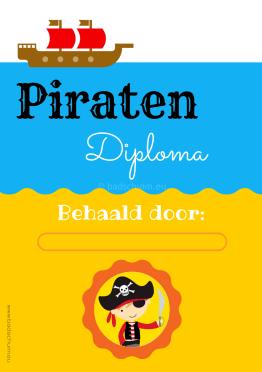 Piratenspeurtocht Vol Met Spelletjes En Piraten Diploma Verjaardag