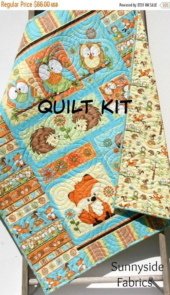Last One Quilt Kit Hoot Hoot Hooray Panel Gender Neutral