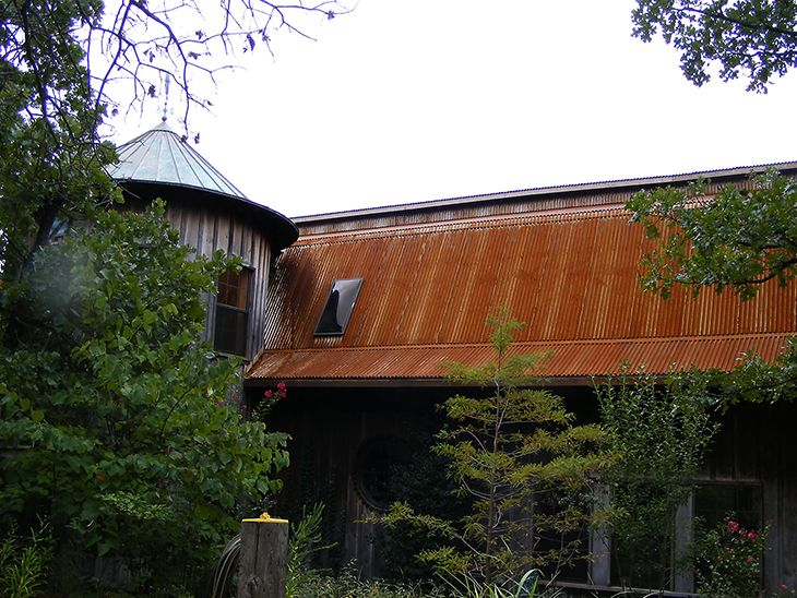 Pre Rusted Roofing Panels In Many Colors Metal Roof Rustic Exterior Corrugated Roofing