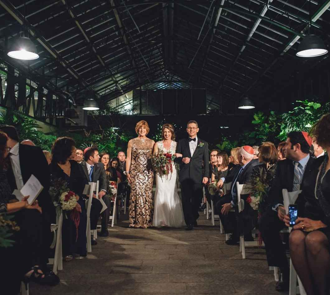 Wedding Ceremony In A Michigan Conservatory/greenhouse