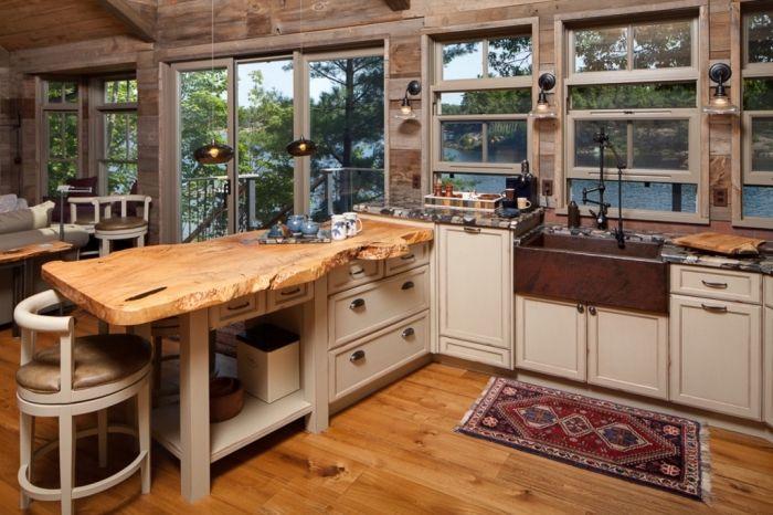 ▷ 1001 + exemples pharamineux de la cuisine en bois - Modele Cuisine Avec Ilot