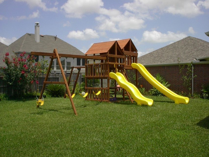 Gemini playset diy wood fort and swingset plans with