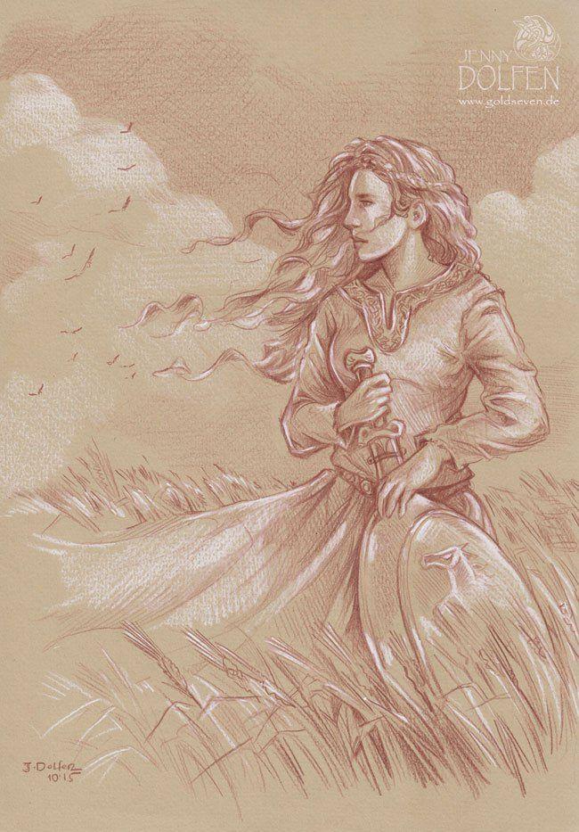 Eowyn by Jenny Dolfen. Polychromo and white pastel on mid-tone ...