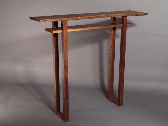 Hall Table Custom Furniture 3745w X Etsy Narrow Console Table
