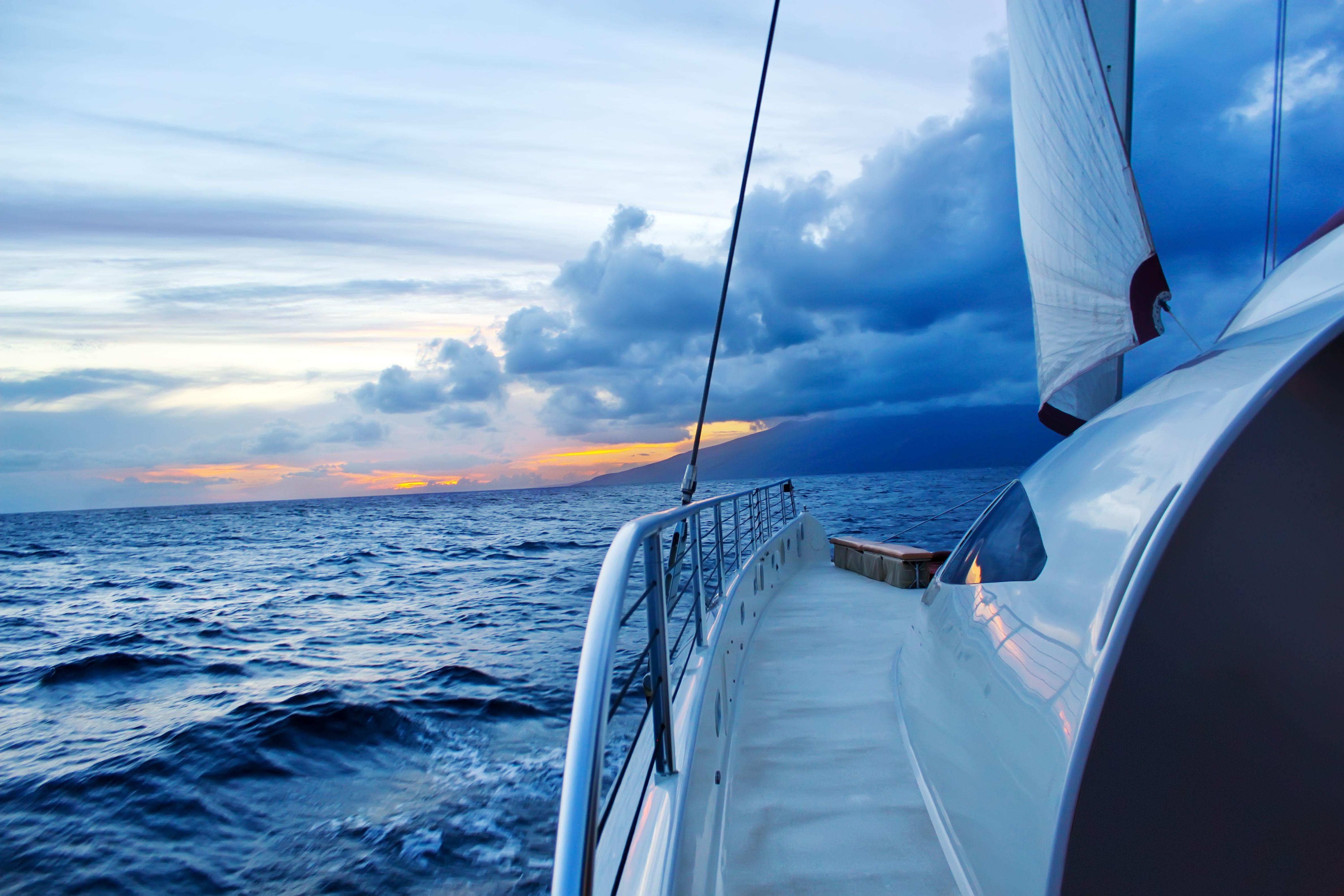 Aboard the 65 foot catamaran Yacht, the Hula Girl off the