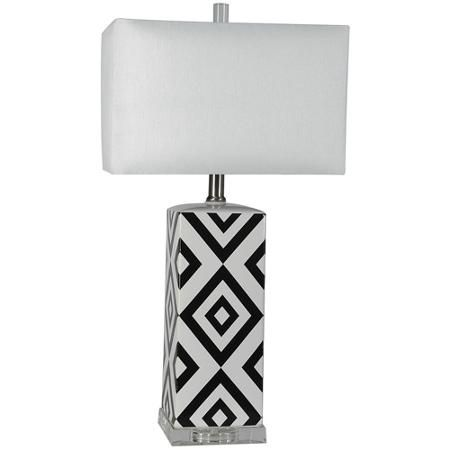Ceramic Table Lamp With Shade Blackwhite Wish List Pinterest