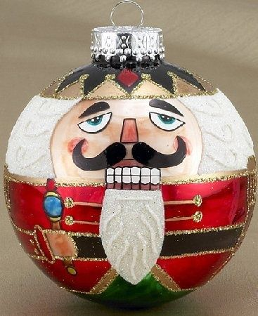 Nutcracker Hand Painted Glass Ornament