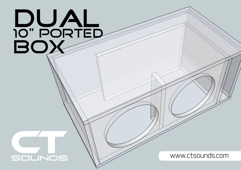 Dual 10 Inch Ported Subwoofer Box Design Ct Sounds Subwoofer Box Design Box Design Subwoofer Box