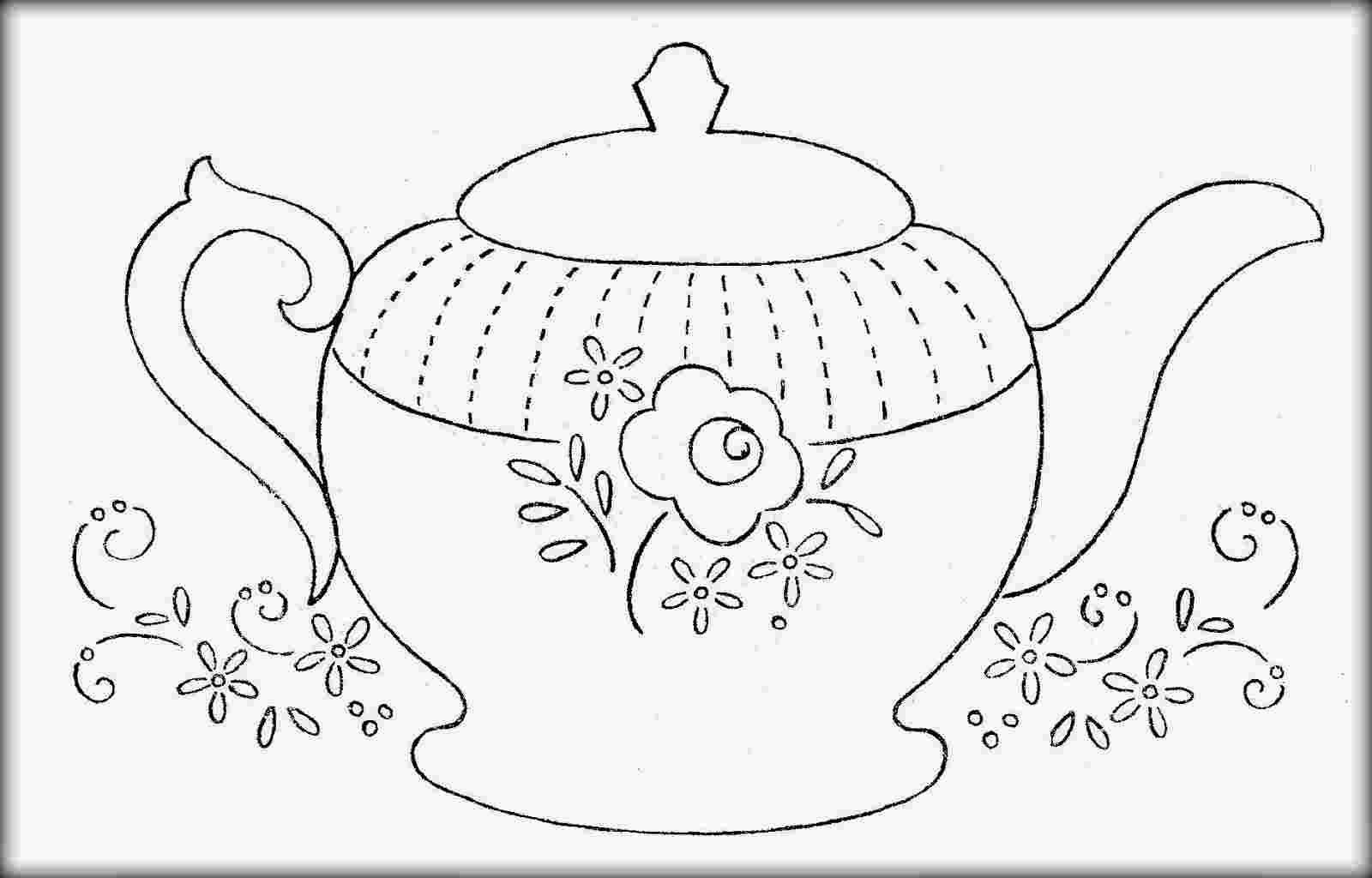 Free printable teapot coloring pages #