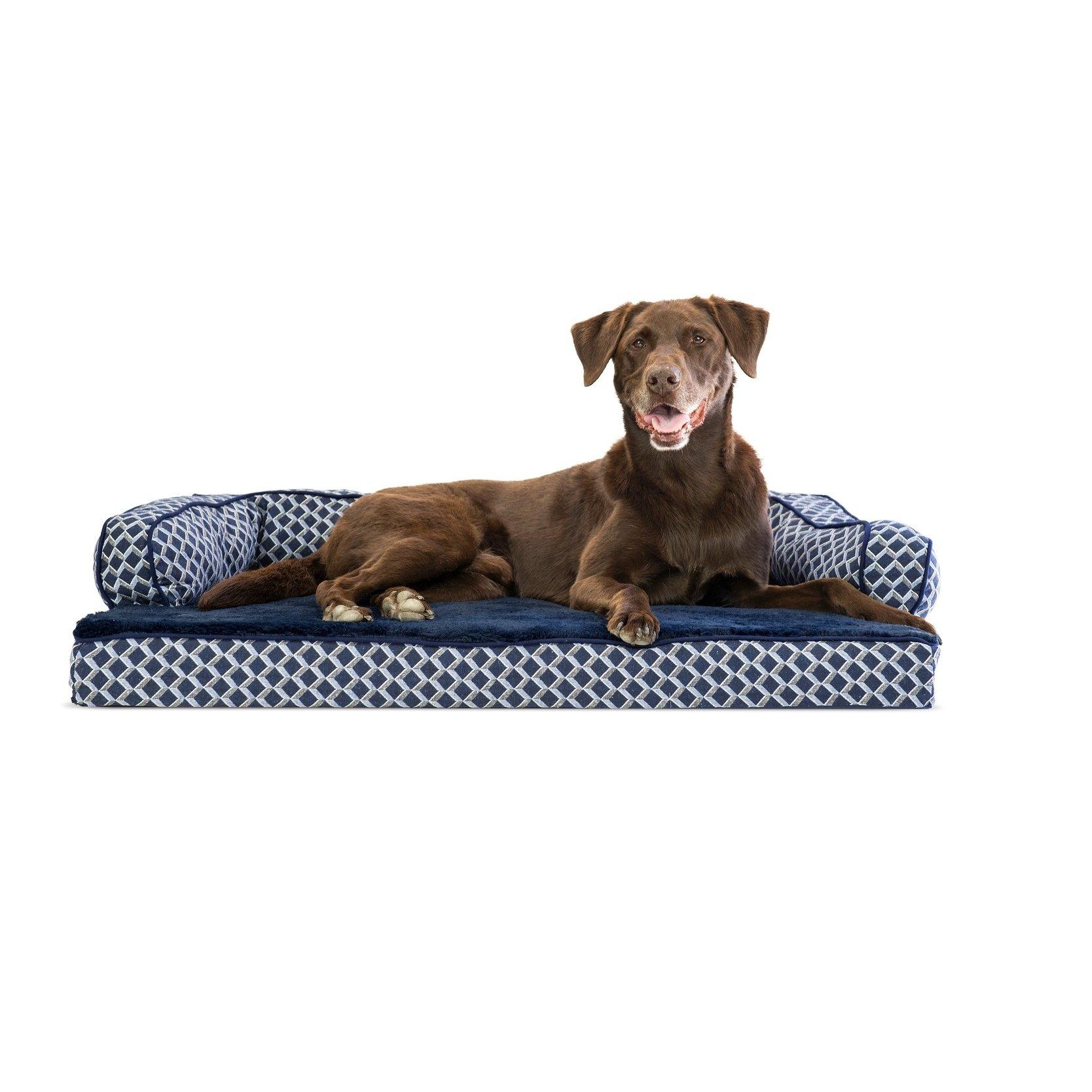 petite FurHaven Plush & Décor Comfy Couch Orthopedic Sofa