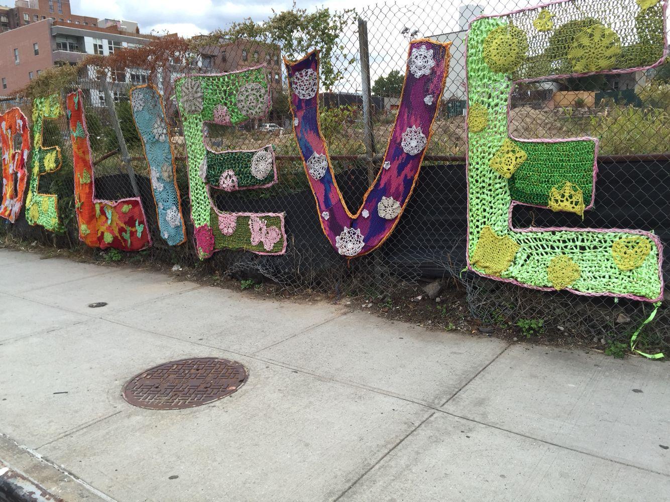 Believe Crochet fence