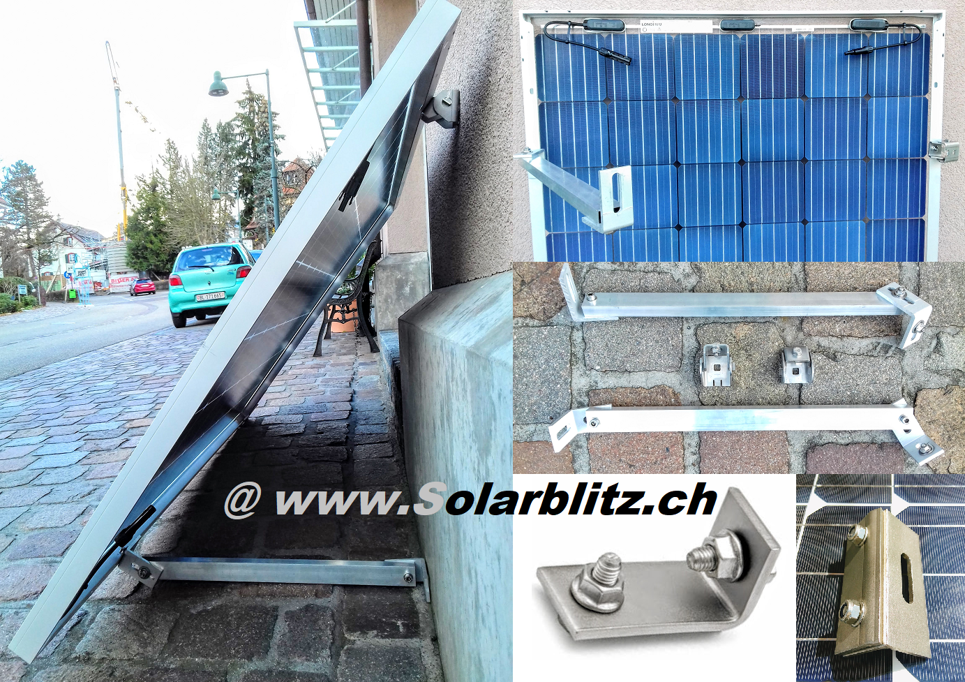 Solarmodul Wandbefestigung Kanal Inseln Solar Post Paket