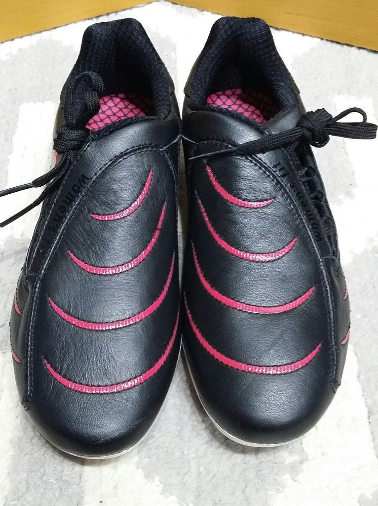 8b374cd4f03 Womens Puma Shoes 8 Cleats Black Pink Soccer Sports PWR-C2 New Without box