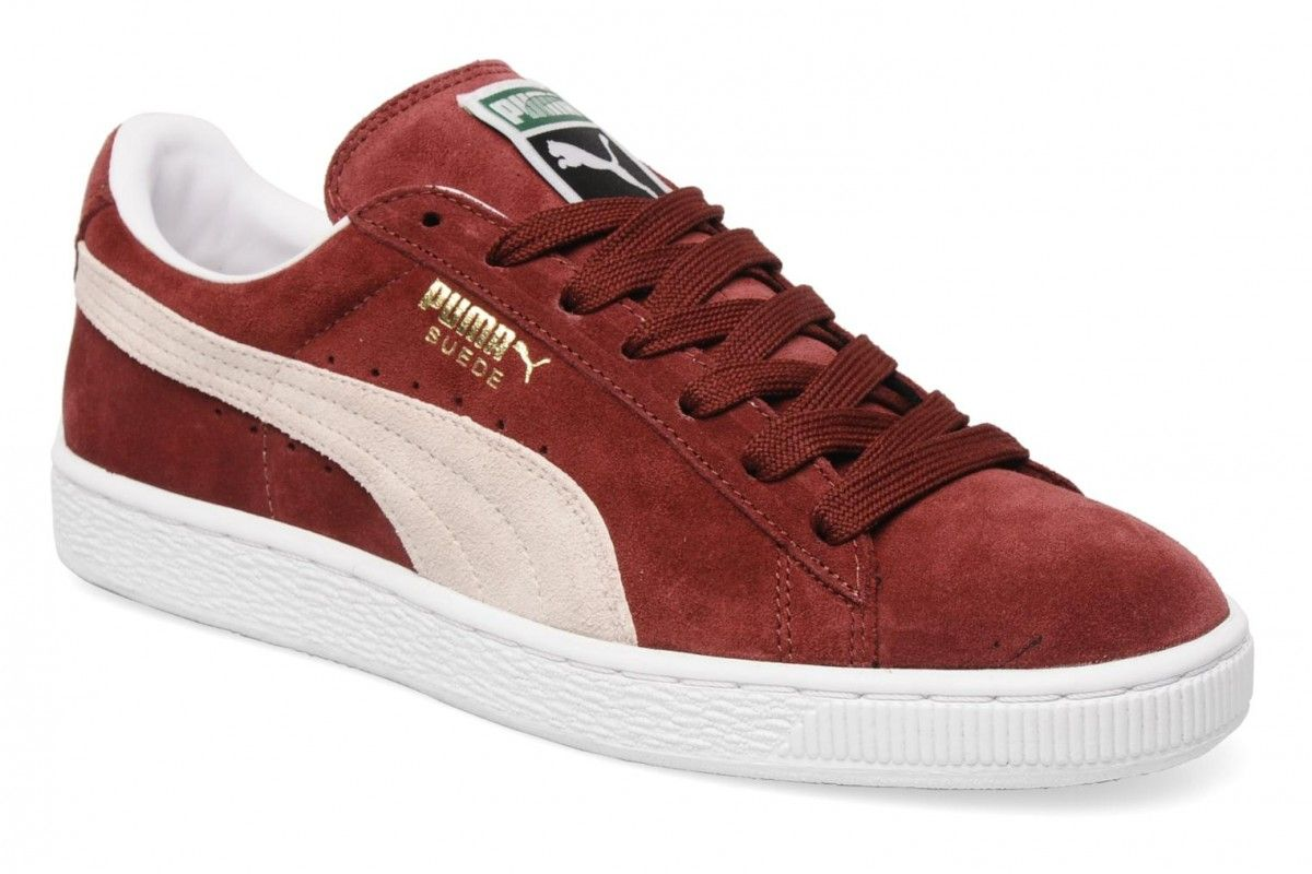 puma clyde red suede