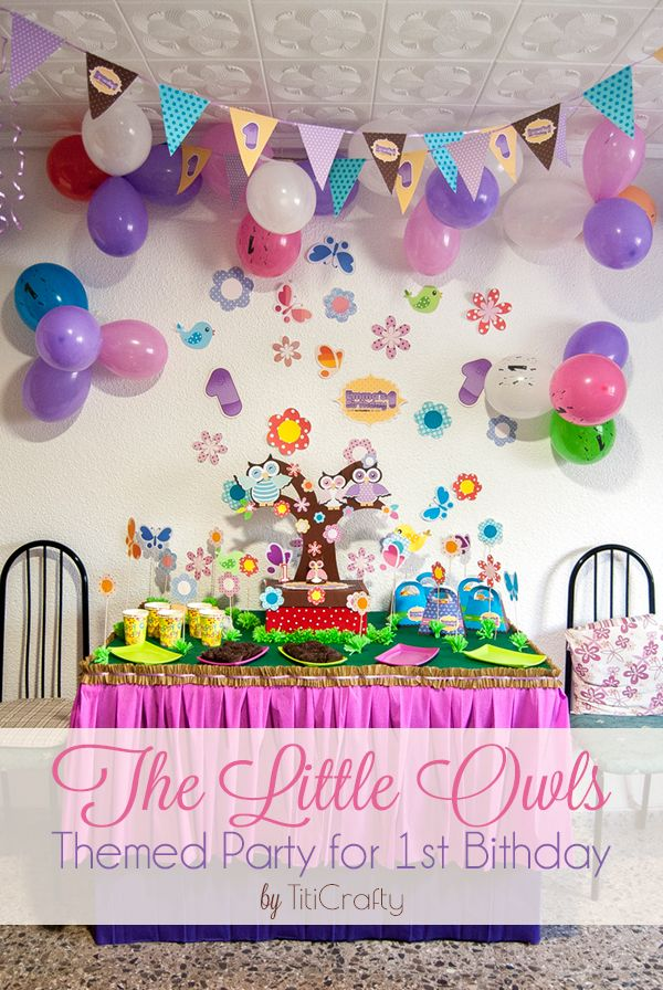 The Little Owls Themed Party For 1st Birthday Owl Themed Parties Party Themes Kids Party Themes
