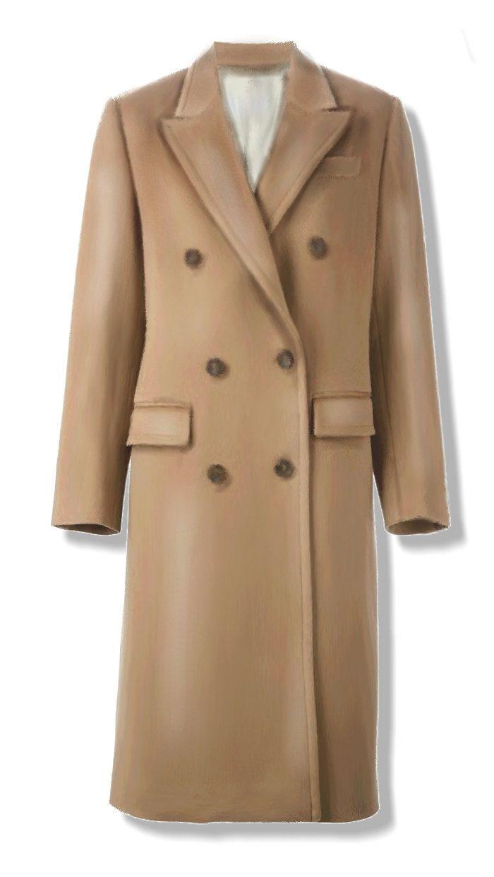 Cappotto doppiopetto da donna, cartamodello in taglia 44 (medium), file PDF  in